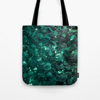 emerald Tote Bags featuring Emerald by Lotus Effects