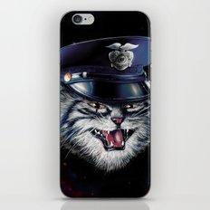 Police Cat iPhone Skin