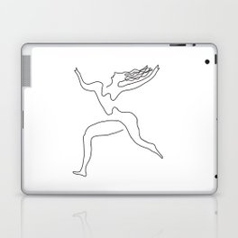 One line Picasso variant (with hair) Laptop & iPad Skin
