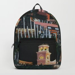Las Vegas Strip Oil On Canvas Backpack