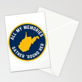 West Virginia Country Roads WV State Map Take Me Home Stationery Cards
