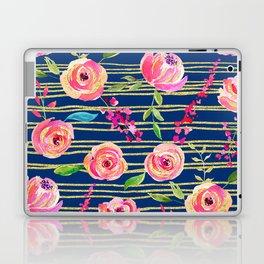 Navy, Pink & Gold Laptop & iPad Skin
