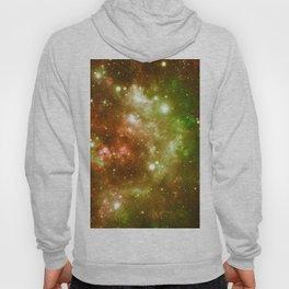 Golden Brown & Green Galaxy Nebula Hoody