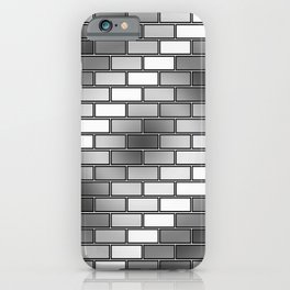 BRICK WALL #2 (Grays & White) iPhone Case