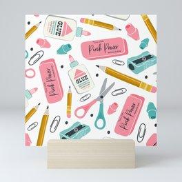 Back To School Essentials Mini Art Print