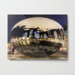 The Chicago Bean (Color) Metal Print
