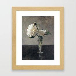 Peonies in Glass Framed Art Print