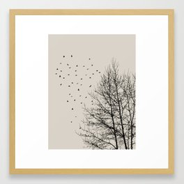 Come On Home - Graphic Birds Series, Plain - Modern Home Decor Framed Art Print