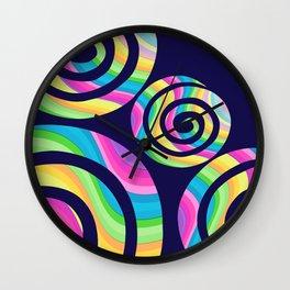 Unicorn Twirls Wall Clock
