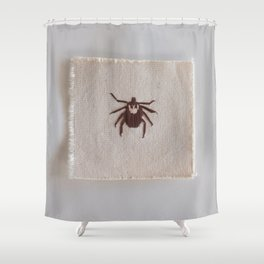 Dog Tick Shower Curtain