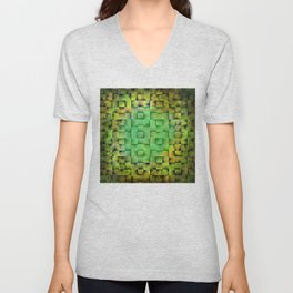 Green woven nature abstract Unisex V-Neck