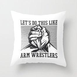 Arm Wrestler Best gift Throw Pillow