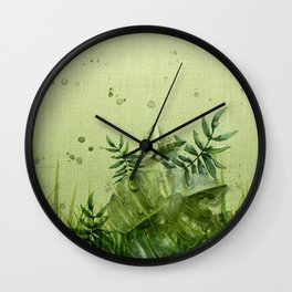 """Forest leaves and plants"" Wall Clock"