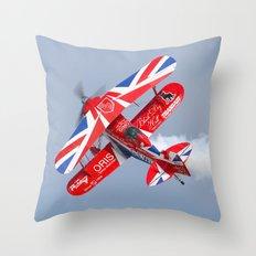 Stunt plane Throw Pillow