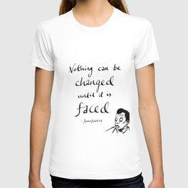 James Baldwin Motivational Quote T-shirt