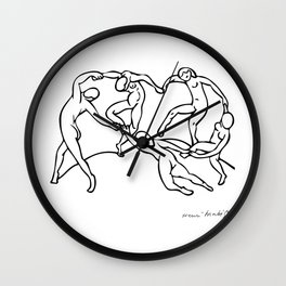 Henri Matisse The Dance and Music Line Artwork Hermitage Sketch For Prints Tshirts Posters Bags Men Wall Clock
