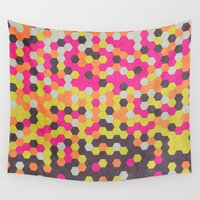 honeycomb Wall Tapestries featuring Honeycomb | Abyss by Nikki Singletary