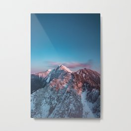 Magical sky above mountain Storžič, Slovenia Metal Print
