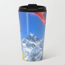 Summit of mount Everest or Chomolungma - highest mountain in the world, view from Kala Patthar,Nepal Travel Mug