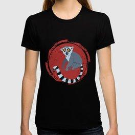 Lemur In A Red Circle T-shirt