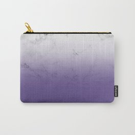 Modern white marble ultra violet purple ombre gradient Carry-All Pouch