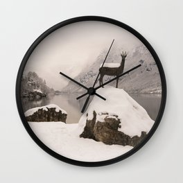The Stag At Lake Bohinj Wall Clock