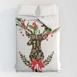 watercolor fashion Reindeer Comforters