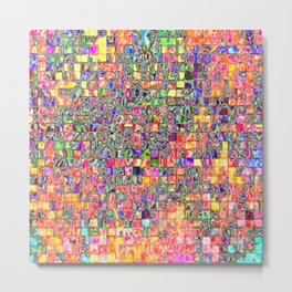 Neon Abstract and Pattern Metal Print