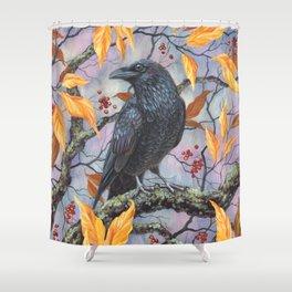 Autumn Raven Shower Curtain