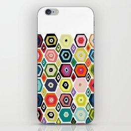 hex diamond white iPhone Skin