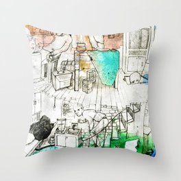 Shack Throw Pillow