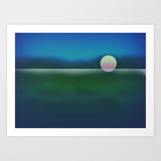 Sunset ~ Abstract Art Print
