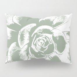 Sage Green Succulent Print Pillow Sham
