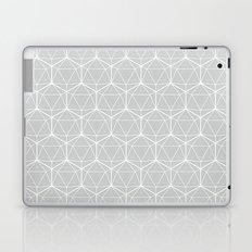 Icosahedron Soft Grey Laptop & iPad Skin