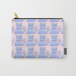 cat 4- pet, whikers,pussycat,felid,felines,kitty,kitten,cute,girly Carry-All Pouch