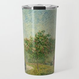 Garden with Courting Couples - Square Saint-Pierre by Vincent van Gogh Travel Mug