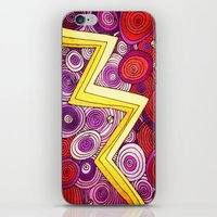 lightning iPhone & iPod Skins featuring Lightning by DuckyB