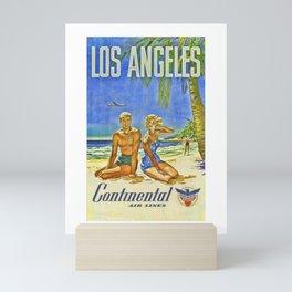 Vintage Los Angeles Travel Poster Mini Art Print