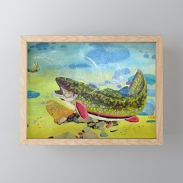 Hungry Trout Framed Mini Art Print