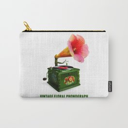 ORGANIC INVENTIONS SERIES: Vintage Floral Phonograph Carry-All Pouch