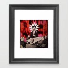 White Collar Witchery Framed Art Print