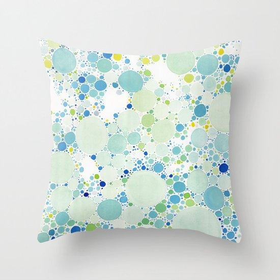 Watercolor Dots Throw Pillow