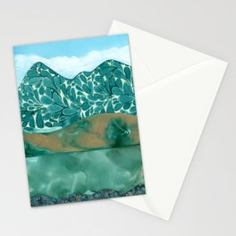 Teal Layers Stationery Cards
