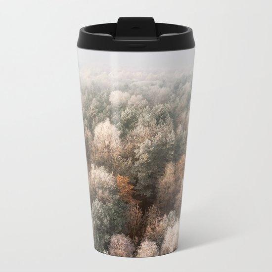 Vanish in the Snow Metal Travel Mug