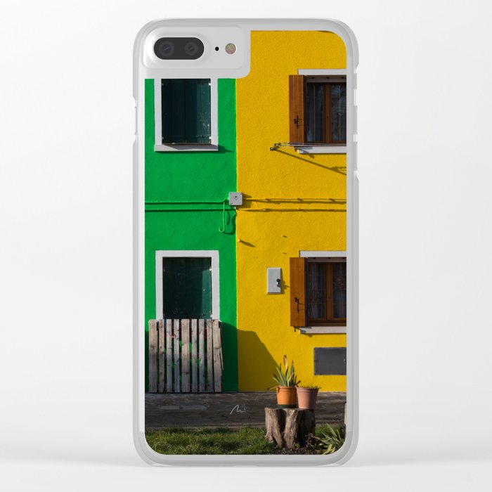 Colored Burano Clear iPhone Case