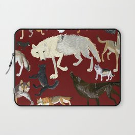 Wolves of the world Red Version Laptop Sleeve