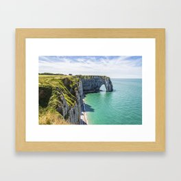 The cliffs of Etretat Framed Art Print