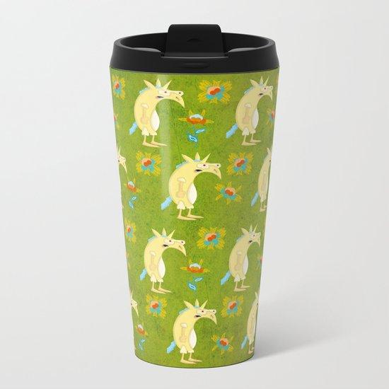 Flowers & Unicorns Metal Travel Mug