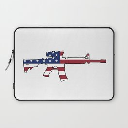 American Flag: M4 Assault Rifle Laptop Sleeve
