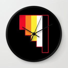 Akoisexuality in Shapes Wall Clock